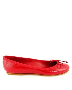 Ponte Vecchio Bow Embellished Ballerina Flats Made In Italy