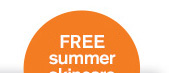 FREE summer skincare surprise 15 dollars value