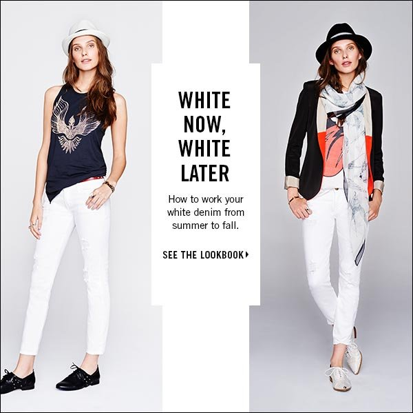 How to work your white denim from summer to fall. Shop now >>