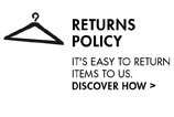 RETURNS POLICY IT'S EASY TO RETURN ITEM TO US. DISCOVER HOW
