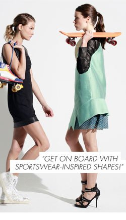 Sportswear inspired shapes