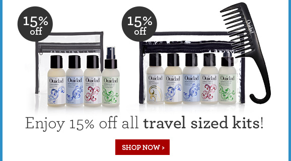 Enjoy 15% off all travel sized kits! SHOP NOW
