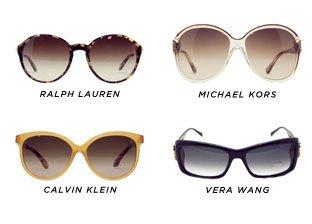 American Classics: DKNY, Ralph, CK, Michael Kors, Vera Wang Sunglasses