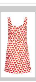 MOTO Heart Fitted Dress