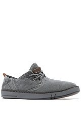 The Earthkeepers Hookset Handcrafted Fabric Oxford Sneaker in Grey Washed Canvas