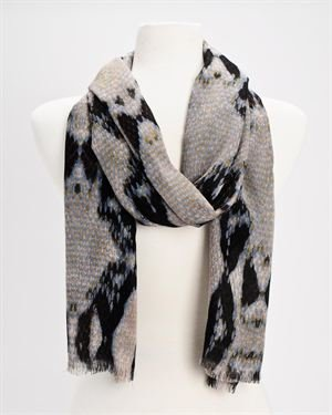 Just Cavalli Thin Multicolor Animal Print Scarf - Made In Italy