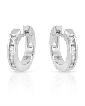 Ladies Diamond Earrings Made Of 14K White Gold
