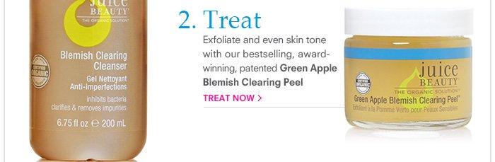 Exfoliate and even skin tone with our bestselling, award-winning, patented Green Apple Blemish Clearing Peel
