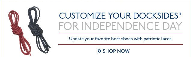 Customize Your Docksides for Independence Day