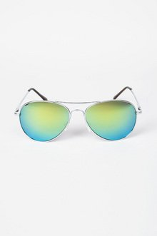 REFLECTIVE AVIATOR SUNGLASSES 12