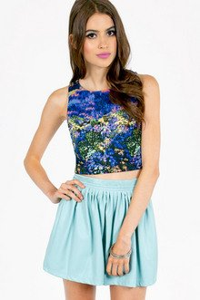 THROUGH THE MEADOW CROP TOP 19