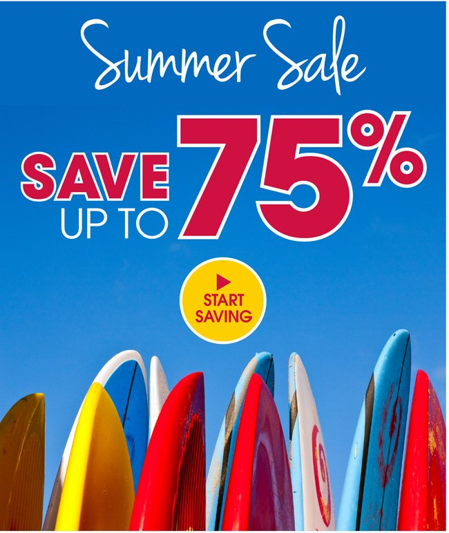 Summer Sale - Save up to 75%