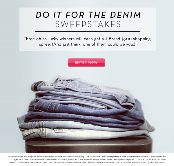Do It For The Denim Sweepstakes