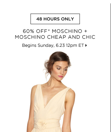 60% Off* Moschino + Moschino Cheap And Chic...Shop Now