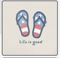 Women's Crusher Tee Patriotic Flip Flops