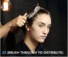 2. Brush through to distribute