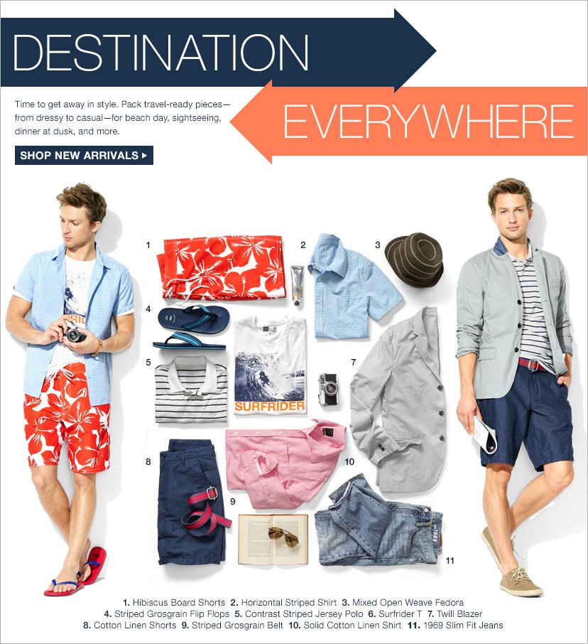 DESTINATION EVERYWHERE | SHOP NEW ARRIVALS