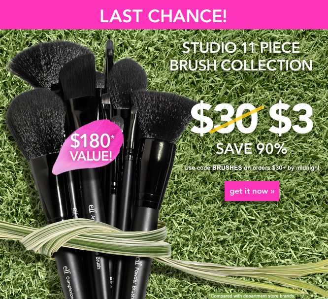 For $3 ONLY - Studio 11pc Brush Collection - Get It Now