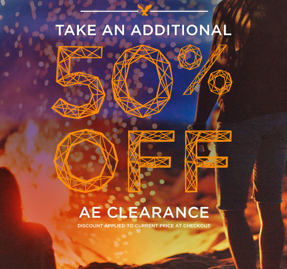 Take An Additonal 50% Off | AE Clearance | Discount Applied To Current Price At Checkout