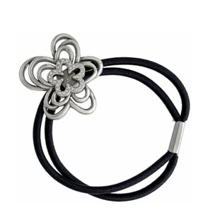 Infinity Flower Ponytail Holder