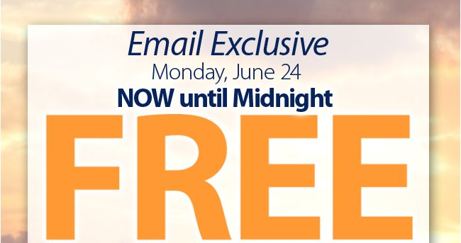 Email Exclusive - Free shipping on orders of $35 of more now through Midnight