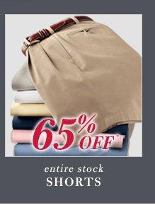 65% Off* Shorts