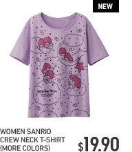 WOMEN SANRIO CREW NECK T-SHIRT