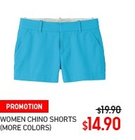 WOMEN CHINO SHORTS