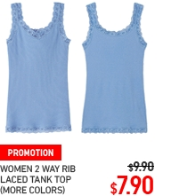 WOMEN 2 WYA RIB LACED TANK