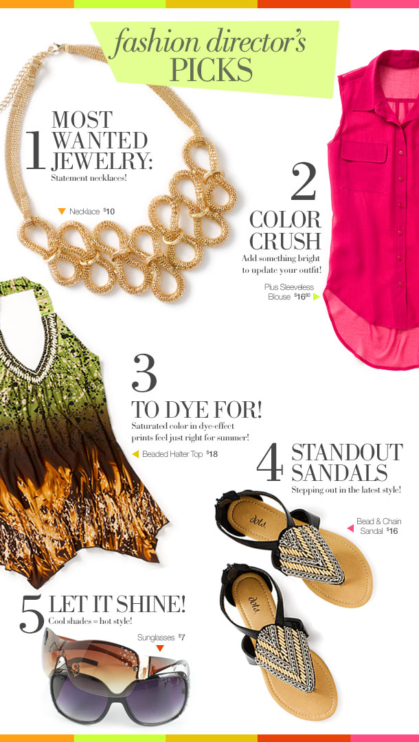 Fashion Director's Picks: 5 Must Have Items For Summer Starting at Just $7!