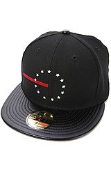 The Red Line Rebel Fitted Hat in Black