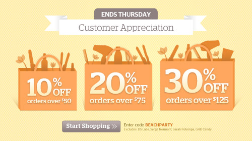 Customer Appreciation, Up to 30% off!