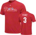 Hunter Pence Majestic Red Name and Number Philadelphia Phillies T-Shirt