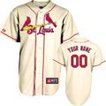 St. Louis Cardinals Jersey: Personalized Alternate Ivory Replica MLB Jersey