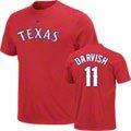Yu Darvish Texas Rangers Red #11 Name & Number T-Shirt