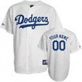 Los Angeles Dodgers Cooperstown White -Personalized with Your Name- Replica Jersey