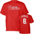 Ryan Howard Red Majestic Name and Number Philadelphia Phillies T-Shirt