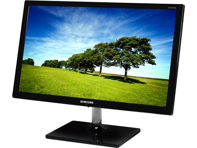 SAMSUNG S24C570HL Glossy Black 23.6 inch 5ms (GTG) HDMI Widescreen LED Backlight LCD Monitor 250 cd/m2 Mega Infinite DCR (1000:1)
