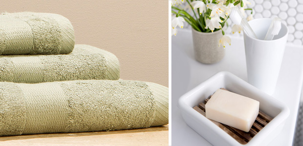 Give the Bathroom Some Love: Towels & Accessories