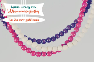 Lesson #22: Wooden Jewelry