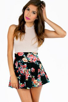 NIGHT BOUQUET SKATER SKIRT 23