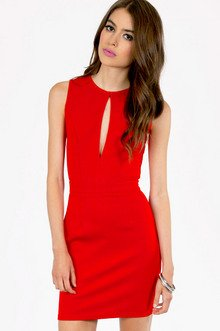 VIX CUTOUT BODYCON DRESS 33
