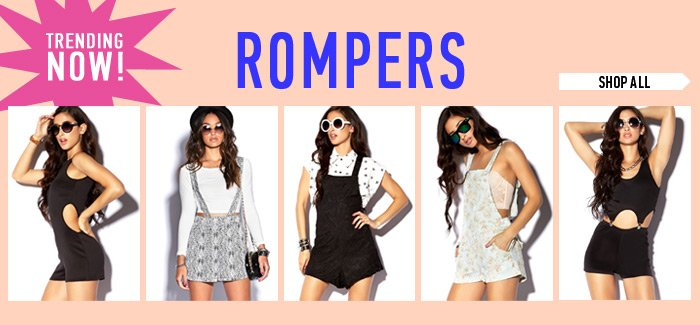 Trending Now! Rompers - Shop Now