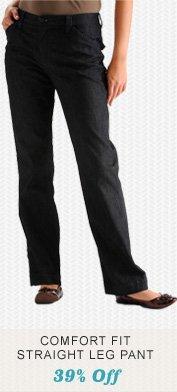 Comfort Fit Straight Leg Pant