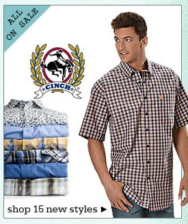 New Mens Cinch Shirts