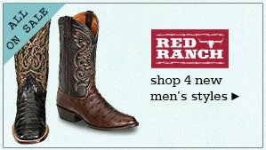New Mens Red Ranch Boots