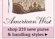 New Womens American West Handbags