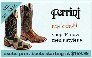 New Mens Ferrini Boots