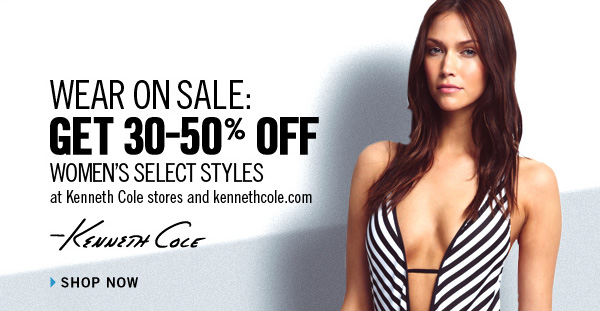 WEAR ON SALE: GET 30-50% OFF WOMEN'S SELECT STYLES at Kenneth Colestores and kennethcole.com. //  SHOP NOW