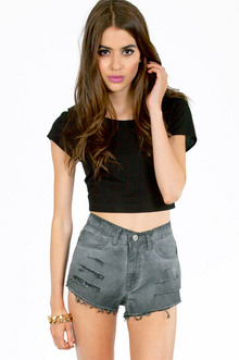 FRANNY FADED DENIM SHORTS 46